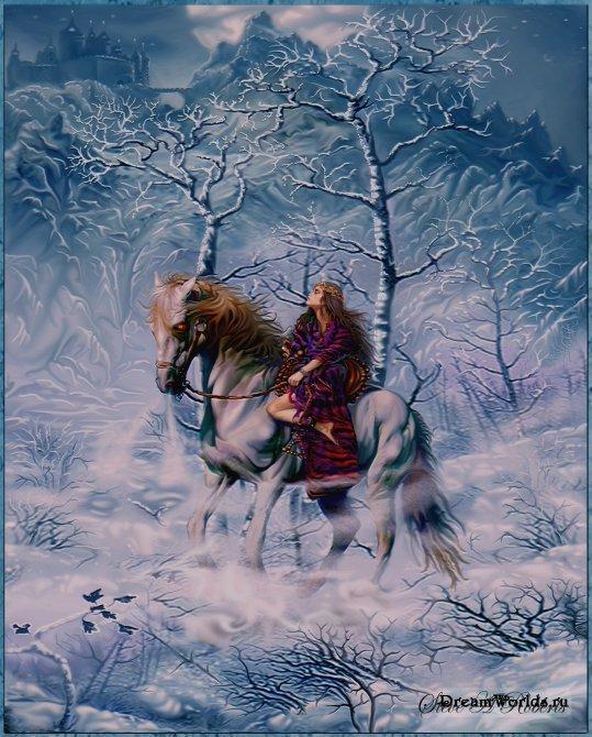 Анимации Лошади, кони, Анимации Девушка и конь. скачать бесплатно.