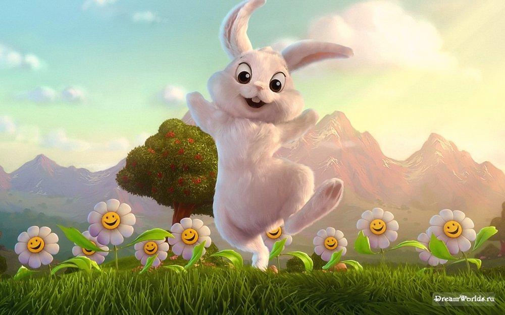 Заяц с цветами картинки 2