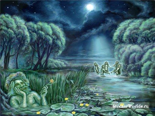 Они качаются на ветках березы, и луна для них светит ярче обычного.  В.