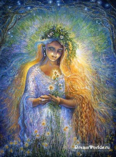 Расскажи, Гамаюн, птица вещая, о Деване - дочери Дивы и Перуна сына Сварожича.  Как она на Ирий пошла войной и с...