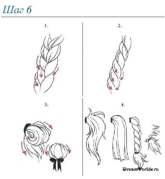zabastovka: рисуем карандашом пряди волос, длинные прически