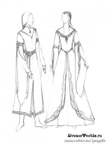платья с рукавами chanel