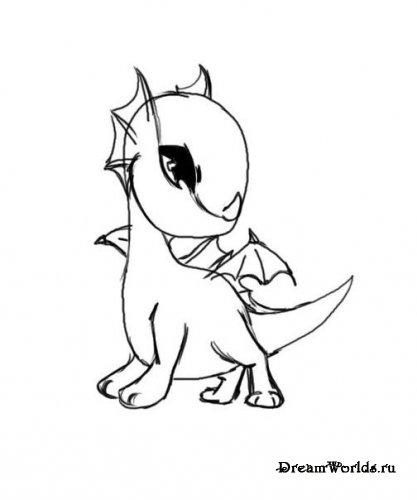 Рисуем дракончика