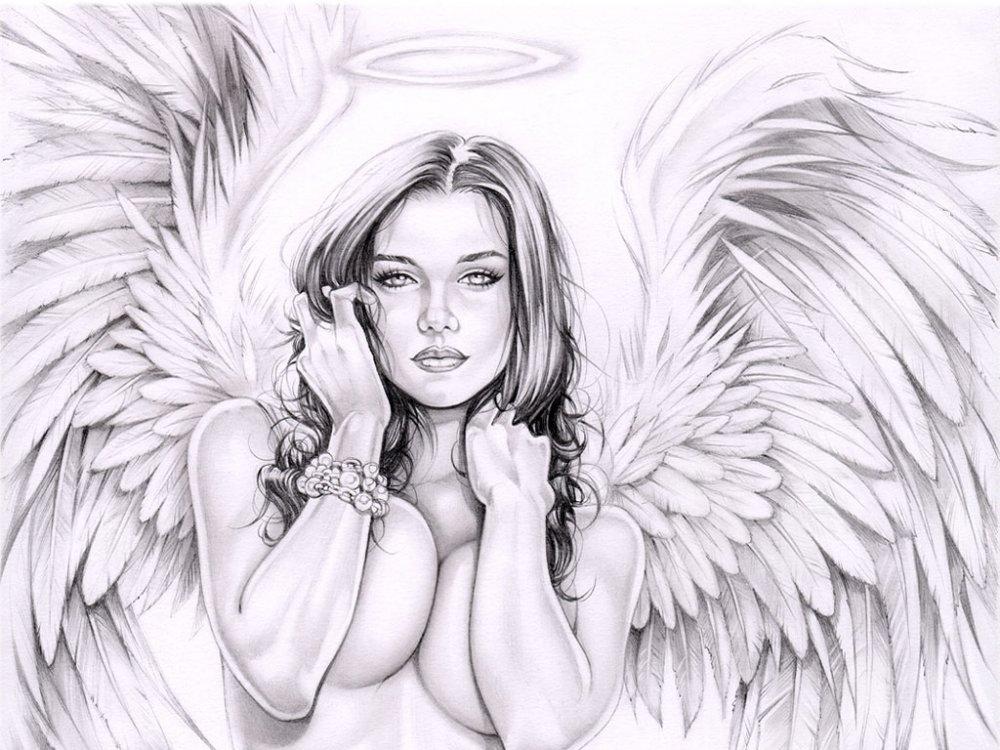Ангел хранитель картинки карандашом 1