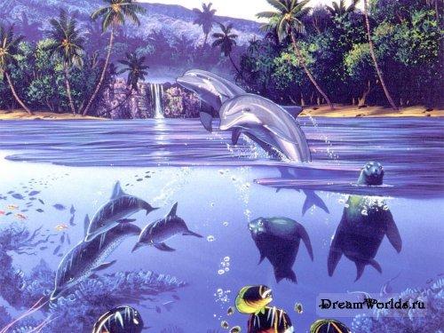 Дельфины игра - 398