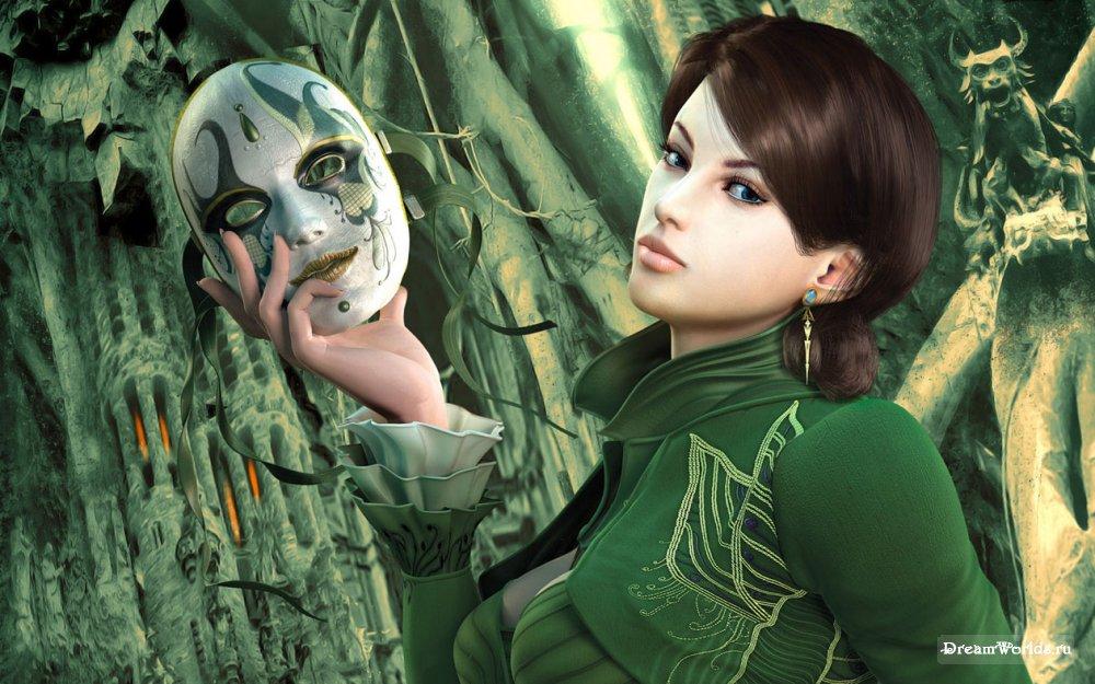Девушки 3d девушки маскарадная маска. Обои. Лучшие картинки со всего инте