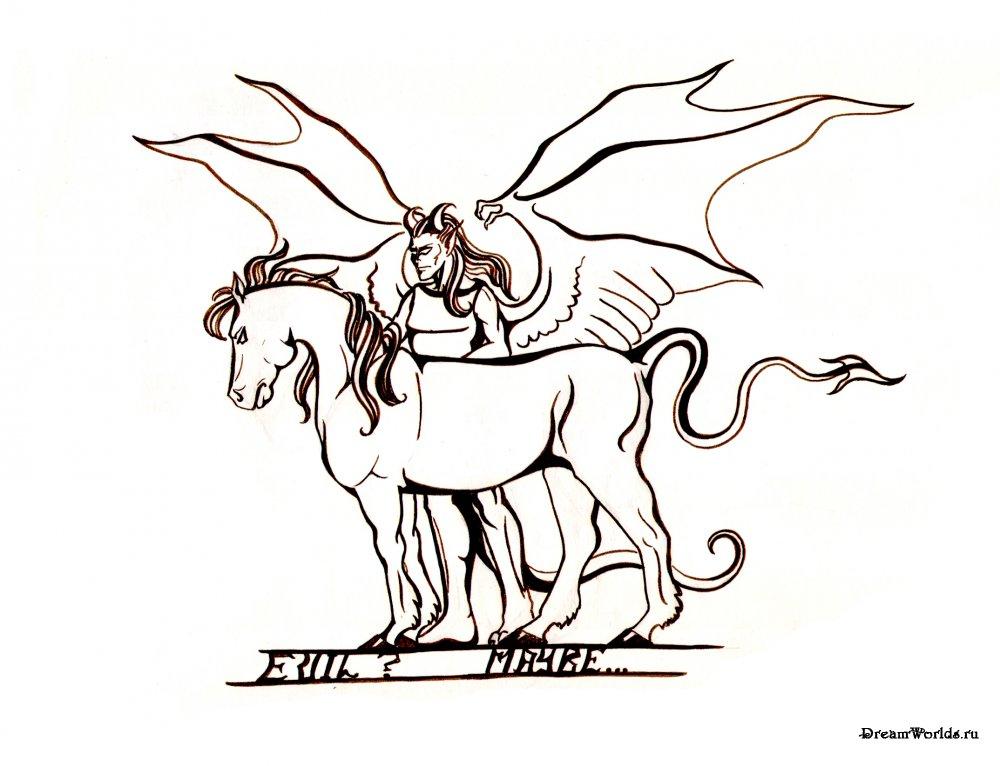 рисунки зла: