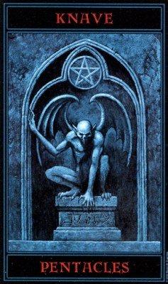 Готическое Таро Варго (The Gothic Tarot) паж пентаклей (валет) .