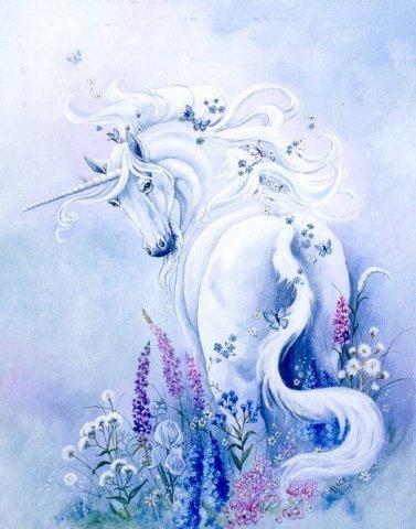 Единорог - мифическое существо, символизирует целомудрие.