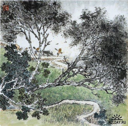 Китайская живопись. Пейзажи.
