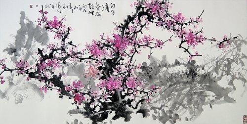 Китайская живопись (цветущая слива)