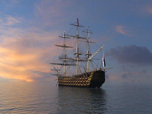 Корабли...море