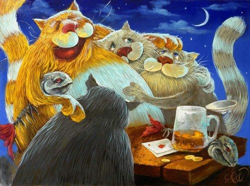 Коты и кошки от mariecat теплые коты кошки