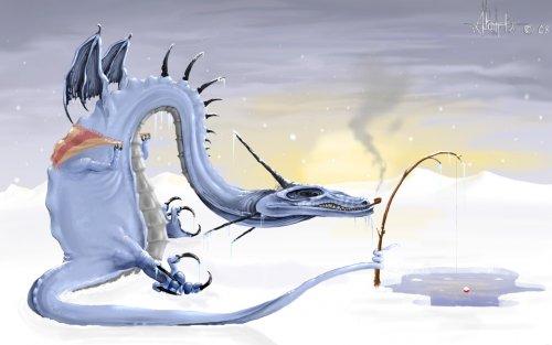рыбалка на дракона