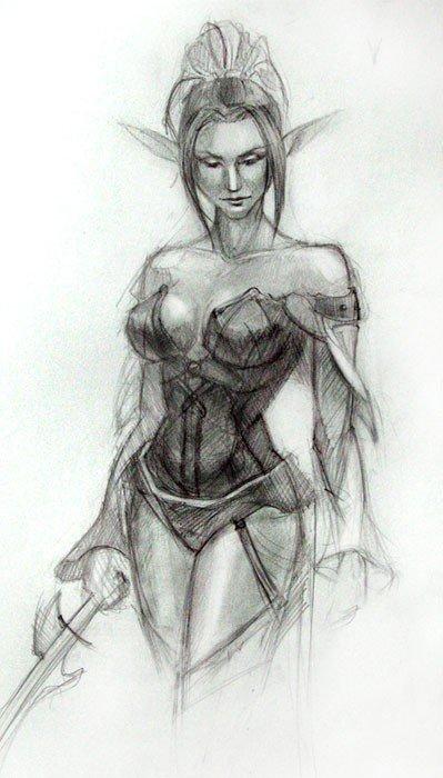 рисунок тёмного ангела
