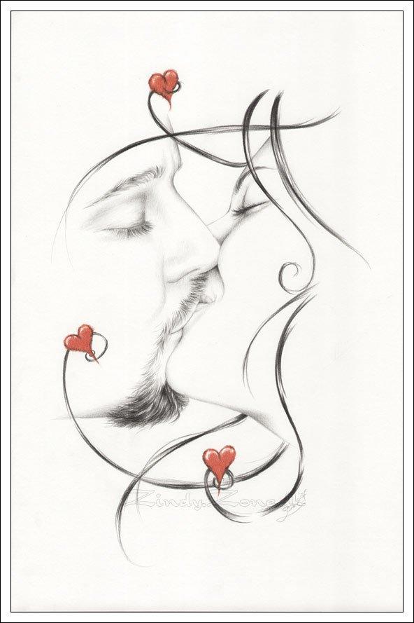 Контурная Вышивка С Поцелуем