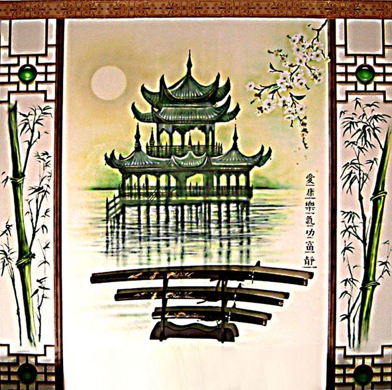 Пагода вышивка крестом схемы для начинающих, восток.