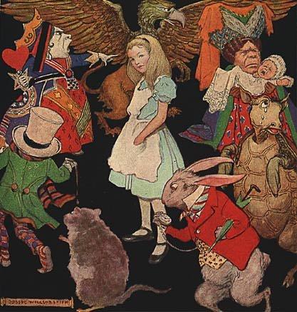 Алиса в стране чудес иллюстрации и