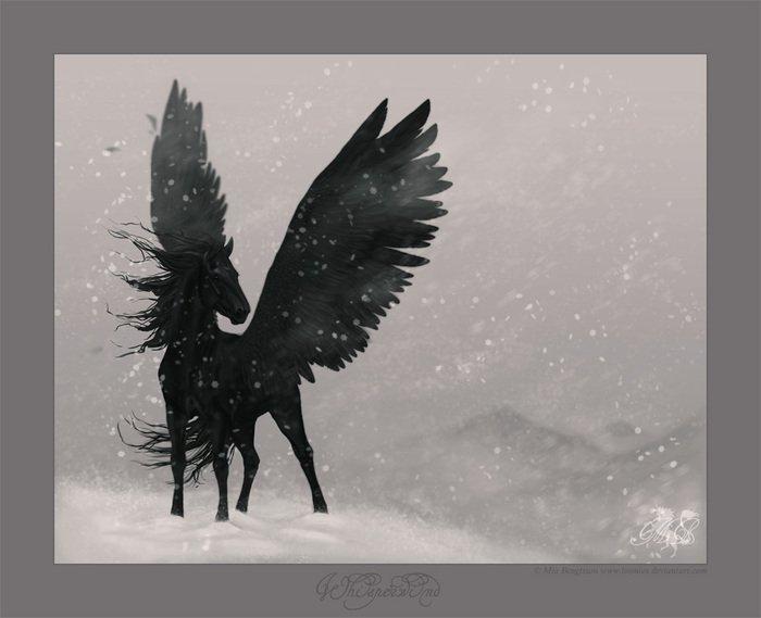Лошади Единороги Пегасы