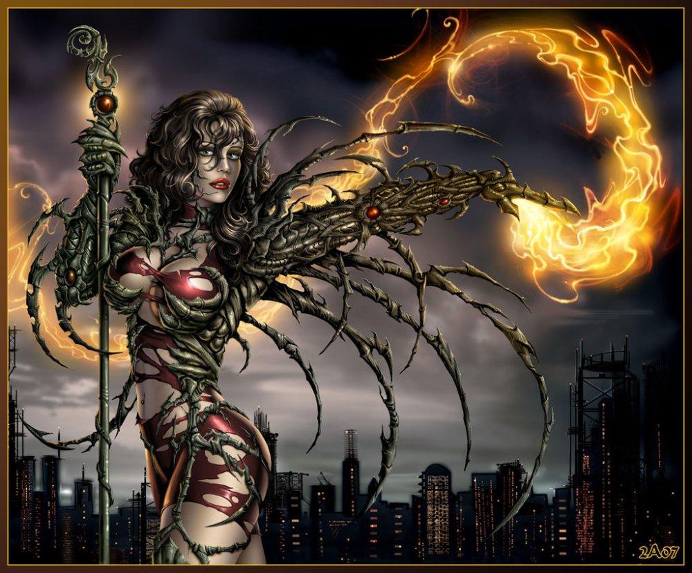Girl demon pirn sexual scene