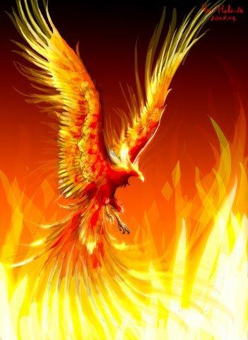 Феникс - это крупная птица с ярким оперением
