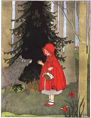 Красная шапочка. Иллюстрации.