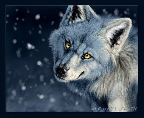 схему вышивки волков