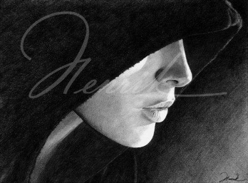 Рисунок карандашом девушка фэнтези. портрет карандашом девушка.