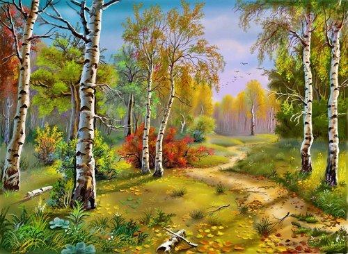 Сказочные пейзажи художника Виктора Захаровича Цыганова