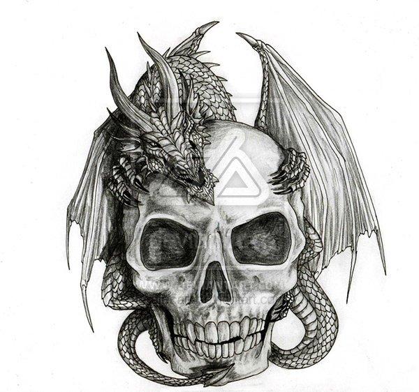 черепа (рисунки, эскизы,