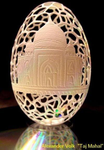 Зодиакальные лампы из страусиных яиц: