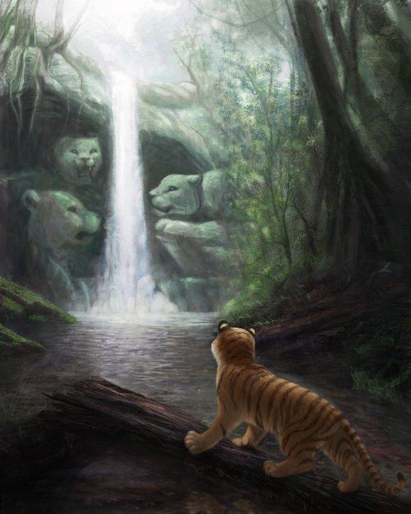 Иногда водопады скрывают вход в подземелья, этот не исключения.  Добро пожаловать в мир мрака!