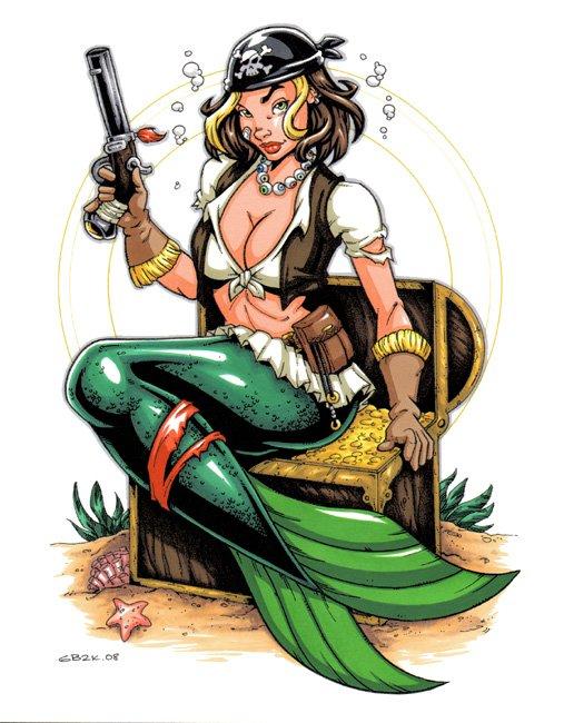 Pirate Mermaids and Sirens.