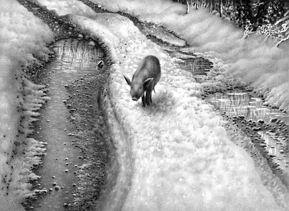 Картинки зима пейзажи рисовать 6