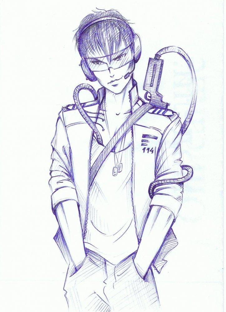 Как нарисовать крутого парня