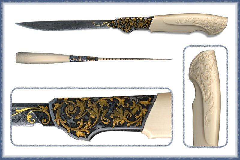 Изготовление гравировок на ноже 136