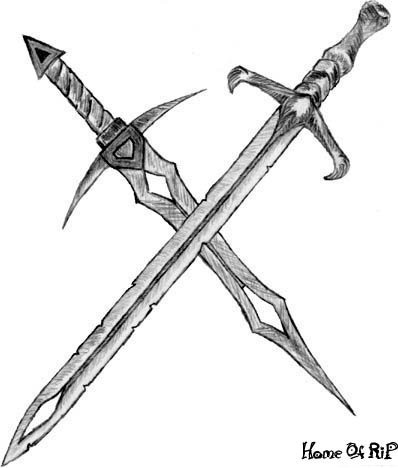for Crossed swords tattoo
