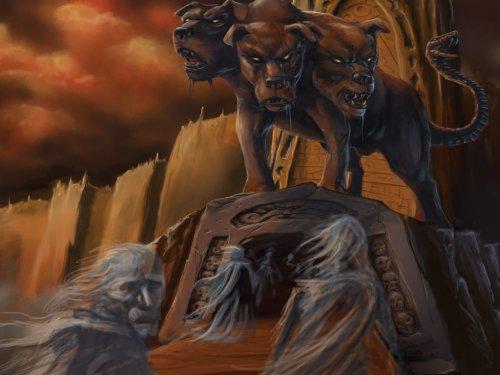 Скульптура аид и его цербер