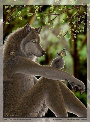 волк из бисера схема