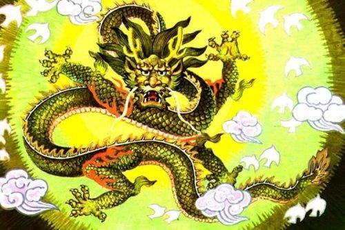 """10. 4.5 (оценок: 17).   """"Предыдущий. оцените.  В китайской мифологии Цин-лун - Зеленый дракон, Страж Востока."""