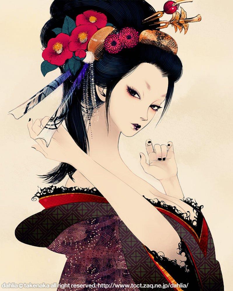 Японские рисованные девушки 7 фотография