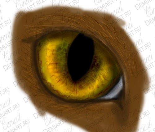 Как я рисую кошачьи глаза