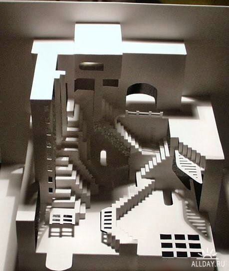 Бумажные дворцы сделанные при помощи ножниц и бумаги (27 фото) .