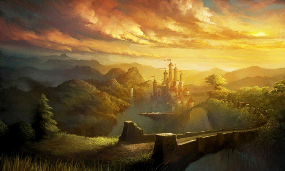 Fantasy castle landscapes