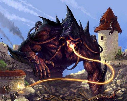 Левиафан.  Гигантский монстр Тьмы, вершина извращённого мастерства Проклятых.