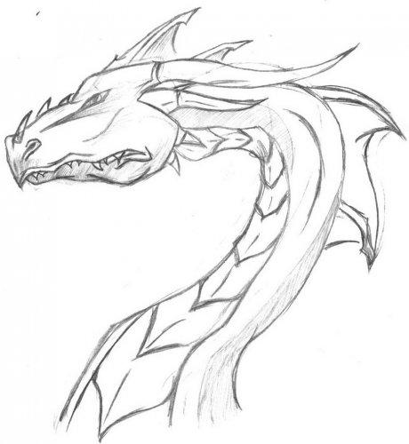 Рисуем дракона ручкой на