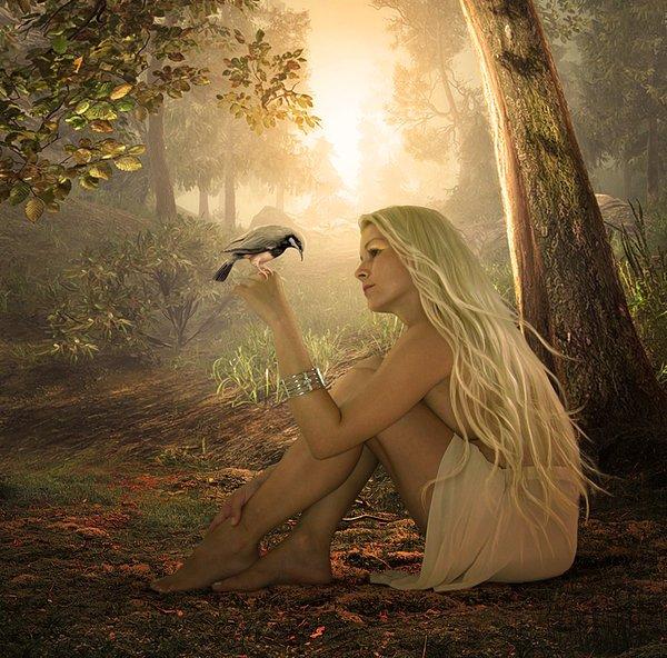 Сидела девочка у речки.