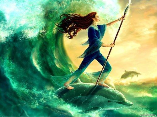 """Это ли не счастье? """" - думала Кэйссиди - юная маг воды.  Русые волосы вольно развевались за спиною девушки..."""