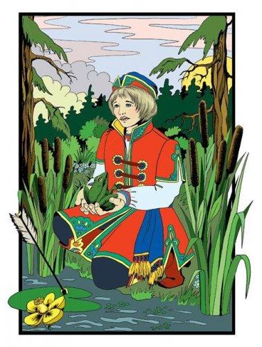 Дети мои милые, вы...  Позвал однажды царь сыновей и говорит им. Царевна-лягушка (Русская народная сказка).