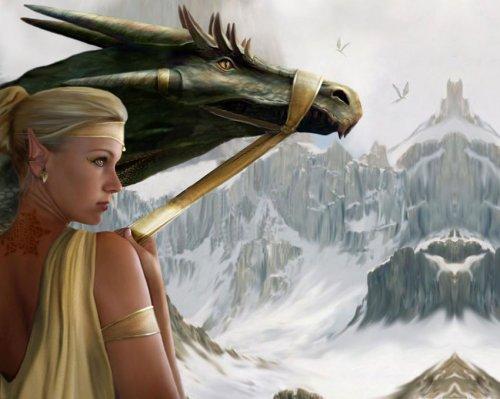 дракон девушка воин - Картинки и фото !--if(Фентези)--- Фентези.